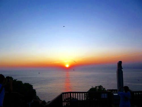 恋人岬での夕日
