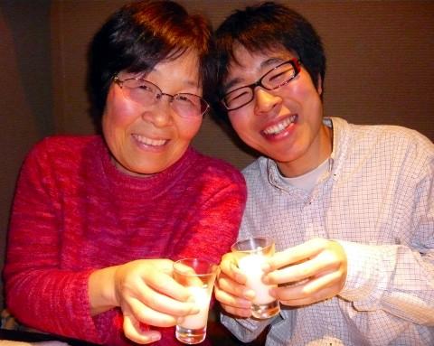 母と息子で