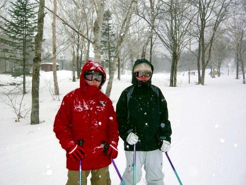 最終日のスキー